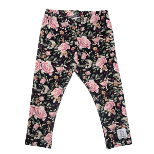 Leggings Black Roses