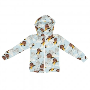 Hoodie with zip Greater Bird